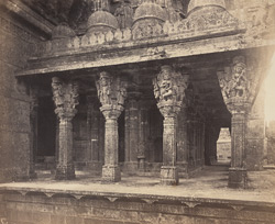 Columns on the North side of the Chaumukh [Satrunjaya].